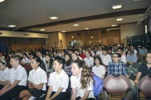 Students listened intently.
