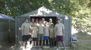 New shed for the United Veterans Beacon House