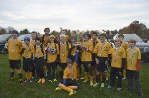 sixth-grade St. Aidan's CYO soccer championship team