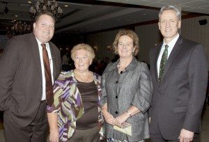 From left: Chris Brown,  Betty McLoughlin (treasurer and member of the board of directors of the society), Counsel General of Ireland Barbara Jones and Nassau County Legislator Rich Nicolello