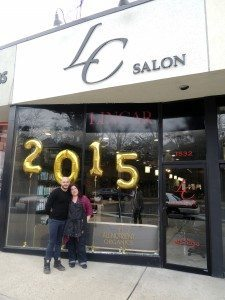 Lino Feminella and Caryn Kinney outside LinCar Salon