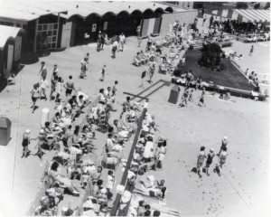 The pool was the place to be when it opened. It still is. (Photo courtesy of the Mineola Historical Society).