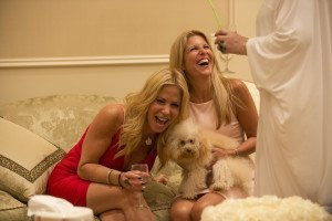 In Secrets and Wives, there's plenty of hanging out by its subject, including Liza Sandler and Amy Miller kicking it with some furry friends. (Photo by: Barbara Nitke/Bravo)