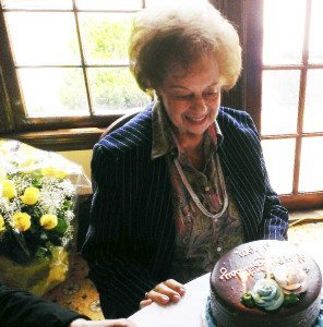 Hannah Kroner during her 95th birthday party