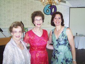Hannah Kroner, her daughter Evelyn Summer, and Hannah Kroner School Owner/Director Carol Riley at the school's 60th Anniversary in 2007.