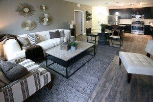 A sample apartment at Modera Mineola (Photo by Anthony Alvarez)