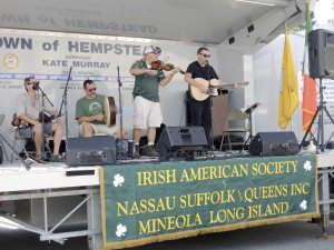 The Irish American Society had its own showmobile this year.