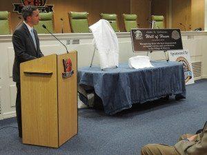 Senator Jack Martins spoke of John DaVanzo