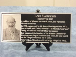 The Lou Sanders plaque