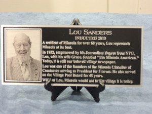 The Lou Sanders plaque