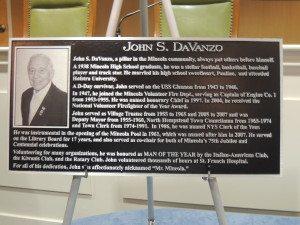 The John S. DaVanzo plaque
