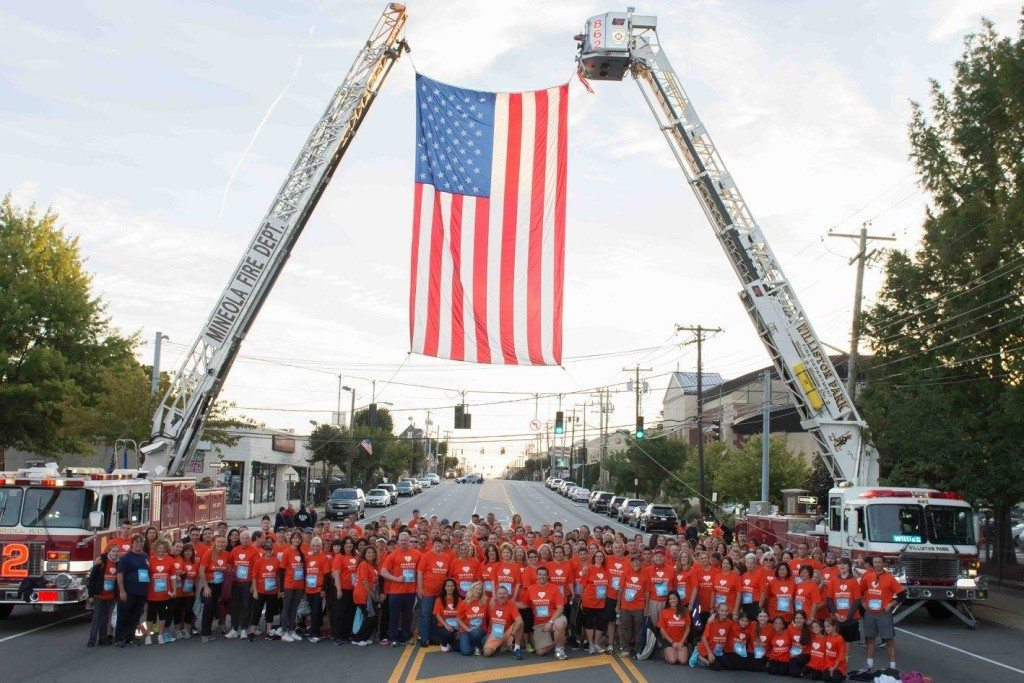 This photo by Joel Harris was taken during the Stephen Siller Tunnel To Towers walk in New York City.