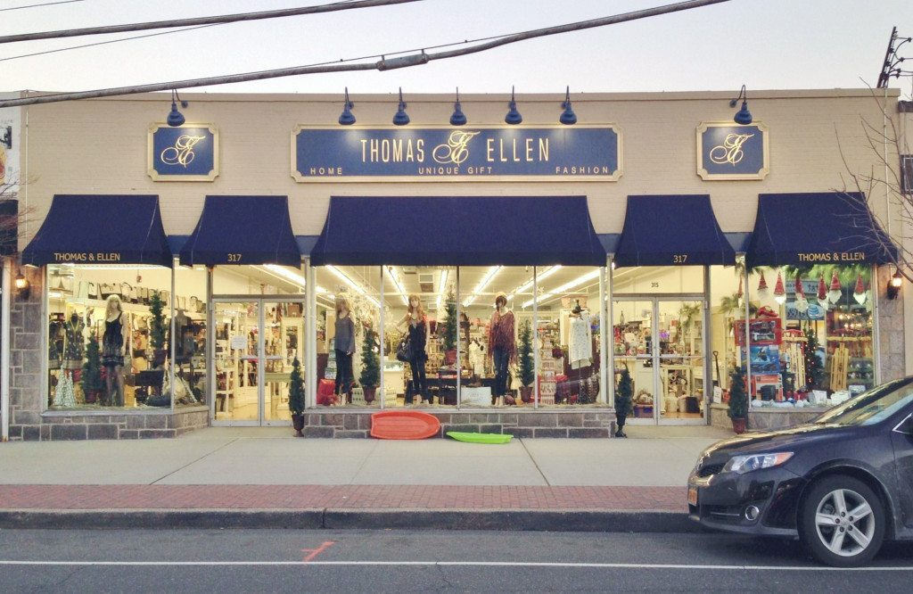 Businesses in Mineola will have the option of adding new signage with gold lettering, sign panels, lighting and awnings, simliar to this store in Farmingdale.