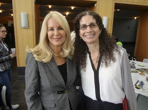 Anton Media Group publisher Angela Susan Anton and LIU Post's Carolyn Levin
