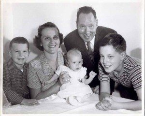 The Sanders family in 1960.